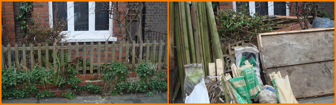 Garden Clearance - Before and After Shot